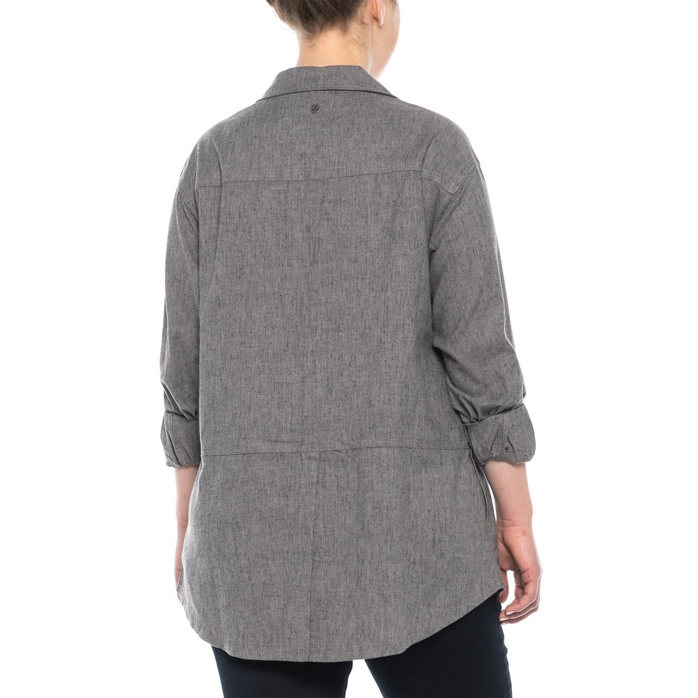 2c7200f7 prAna Gravel Aster Tunic Shirt - Hemp, Long Sleeve (For Plus Women)