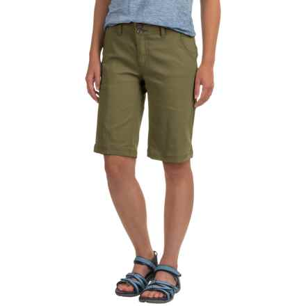 prAna Halle Shorts (For Women) in Cargo Green - Closeouts