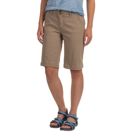 prAna Halle Shorts (For Women) in Dark Khaki