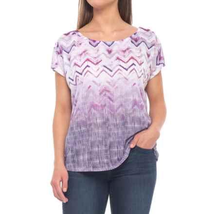 prAna Harlene Shirt - Organic Cotton, Short Sleeve (For Women) in Amethyst Melody - Closeouts