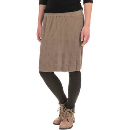 prAna Harper Sweater-Knit Skirt - Organic Cotton (For Women) in Pottery - Closeouts