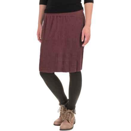 prAna Harper Sweater-Knit Skirt - Organic Cotton (For Women) in Raisin - Closeouts