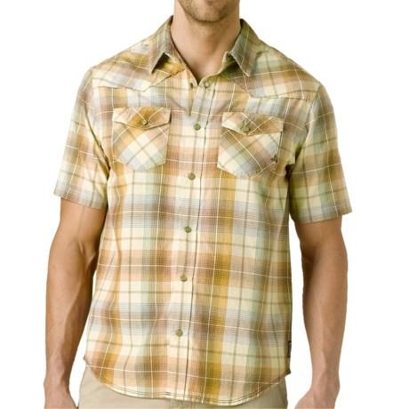 prAna Hartman Shirt - Organic Cotton, Short Sleeve (For Men) in Raffia