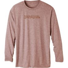 prAna Heathered High-Performance Shirt - Long Sleeve (For Men) in Picante Totem - Closeouts