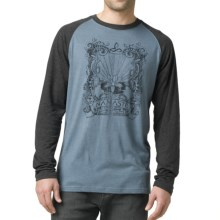 prAna Heathered Raglan Shirt - Long Sleeve (For Men) in Agean Namaste - Closeouts