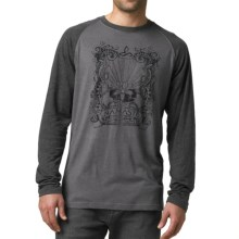 prAna Heathered Raglan Shirt - Long Sleeve (For Men) in Charcoal Namaste - Closeouts