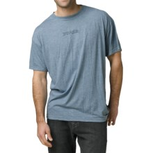 prAna Heathered T-Shirt - Short Sleeve (For Men) in Aqua Totem - Closeouts