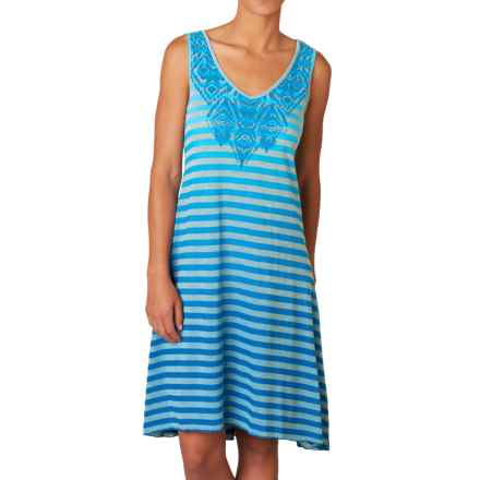 prAna Henna Dress - Organic Cotton, Sleeveless (For Women) in Electro Blue - Closeouts