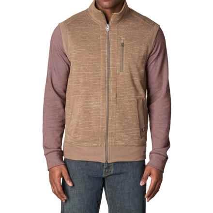 prAna High-Performance Fleece Vest (For Men) in Dark Khaki - Closeouts