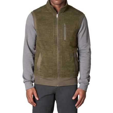 prAna High-Performance Fleece Vest (For Men) in Dark Olive - Closeouts