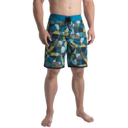 prAna High Seas Boardshorts - UPF 50+ (For Men) in Vortex Blue Dune - Closeouts