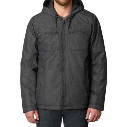 prAna Holmes Hooded Jacket - Insulated (For Men) in Black Heather - Closeouts