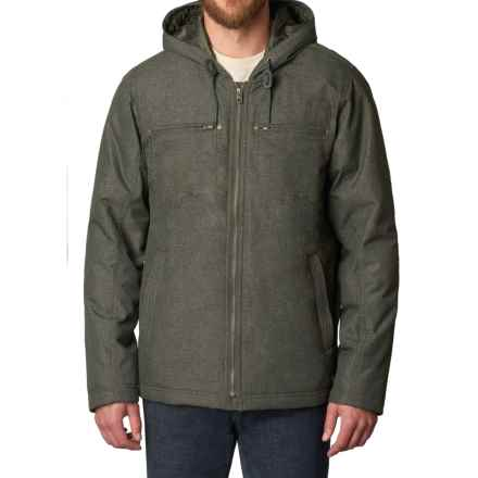 prAna Holmes Hooded Jacket - Insulated (For Men) in Dark Olive Heather - Closeouts