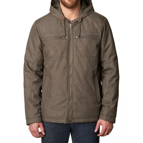 prAna Holmes Hooded Jacket - Insulated (For Men) in Wren Heather
