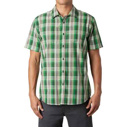 prAna Holten Shirt - Short Sleeve (For Men) in Evergreen - Closeouts