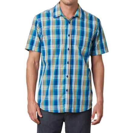 prAna Holten Shirt - Short Sleeve (For Men) in Pure Blue - Closeouts