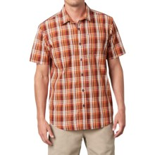 prAna Holten Shirt - Short Sleeve (For Men) in Raisin - Closeouts