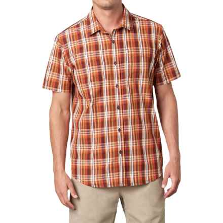 prAna Holten Shirt - Short Sleeve (For Men) in Raisin - Closeouts