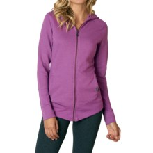 prAna Honey Hoodie - Organic Cotton, Full Zip (For Women) in True Orchid - Closeouts
