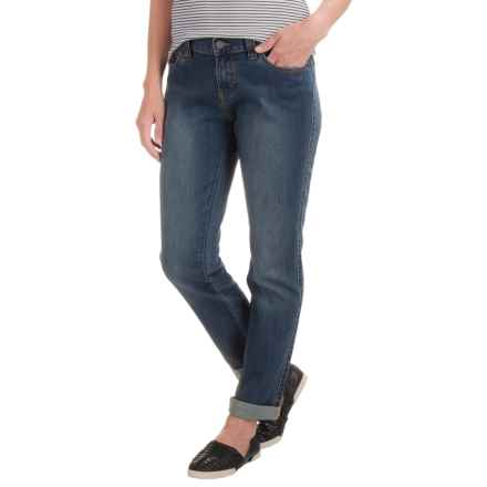 prAna Honour Relaxed Fit Jeans - Organic Cotton, Mid Rise (For Women) in Antique Blue - Closeouts