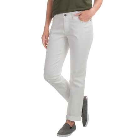 prAna Honour Relaxed Fit Jeans - Organic Cotton, Mid Rise (For Women) in White - Closeouts