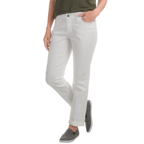 prAna Honour Relaxed Fit Jeans - Organic Cotton, Mid Rise (For Women) in White