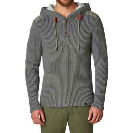 prAna Hooded Henley Sweater (For Men) in Gravel - Closeouts