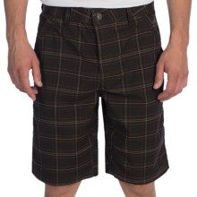 prAna Horton Shorts (For Men) in Brown Plaid - Closeouts