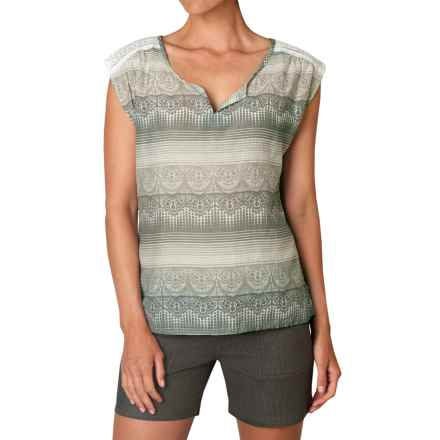 prAna Illian Shirt - Short Sleeve (For Women) in Moonrock - Closeouts