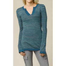 prAna Ingrid Tunic Shirt - Long Sleeve (For Women) in Blue Spruce - Closeouts