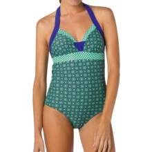 prAna Isla One-Piece Swimsuit - UPF 50+ (For Women) in Cool Green Hyannis - Closeouts