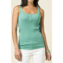 prAna Janey Henley Tank - Stretch Organic Cotton (For Women) in Waterfall - Closeouts