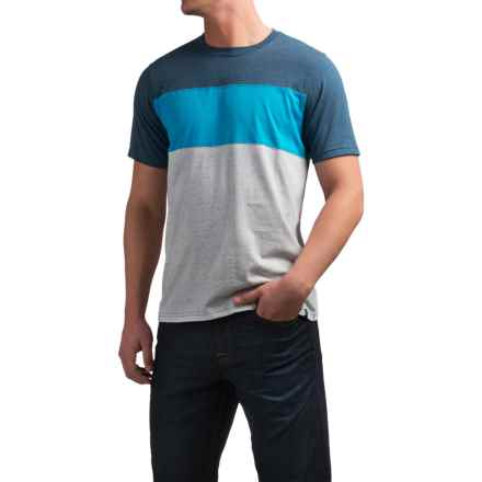 prAna Jax Crew T-Shirt - Short Sleeve (For Men) in Blue Ash - Closeouts