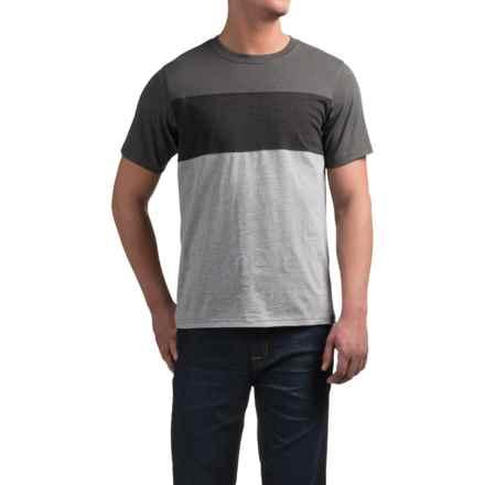 prAna Jax Crew T-Shirt - Short Sleeve (For Men) in Gravel - Closeouts