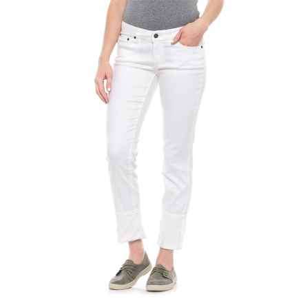 prAna Jeans - Organic Cotton, Low Rise (For Women) in White - Closeouts