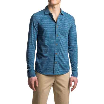prAna Jerricho Shirt - Organic Cotton, Long Sleeve (For Men) in Nautical - Closeouts