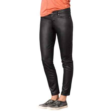 prAna Jett Coated Pants - Organic Cotton, Slim Fit (For Women) in Black - Closeouts