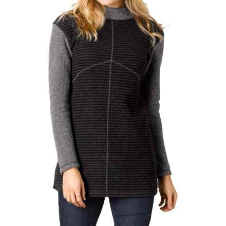 prAna Josette Sweater - Wool Blend (For Women) in Coal - Closeouts