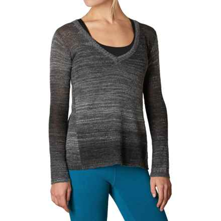 prAna Julien Sweater - V-Neck (For Women) in Charcoal - Closeouts