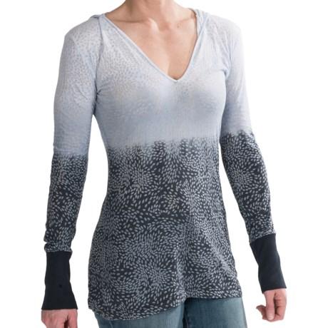 prAna Julz Hooded Shirt - Burnout, Long Sleeve (For Women)