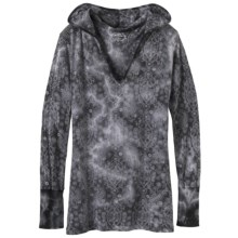 prAna Julz Hoodie Shirt - Burnout, Long Sleeve (For Women) in Black - Closeouts