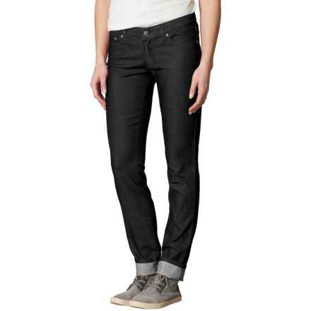 prAna Kara Jeans - Organic Cotton, Low Rise (For Women) in Charcoal Dots - Closeouts