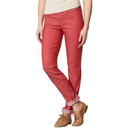 prAna Kara Jeans - Organic Cotton, Low Rise (For Women) in Sunwashed Red - Closeouts