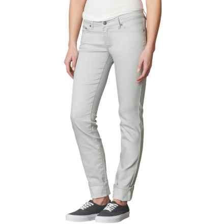 prAna Kara Low-Rise Jeans - Organic Cotton, Fitted Fit (For Women) in Silver - Closeouts