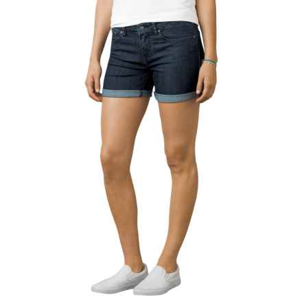 prAna Kara Shorts - Organic Cotton (For Women) in Indigo - Closeouts