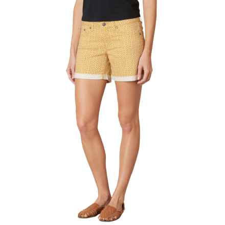 prAna Kara Shorts - Organic Cotton (For Women) in Marigold Mixer - Closeouts