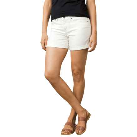 prAna Kara Shorts - Organic Cotton (For Women) in White - Closeouts