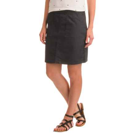prAna Kara Skirt - Organic Cotton (For Women) in Charcoal Dots - Closeouts