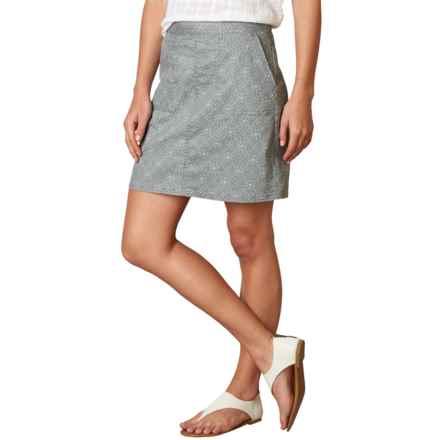 prAna Kara Skirt - Organic Cotton (For Women) in Silver Spain - Closeouts