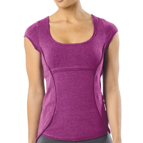 prAna Katarina Yoga Top - Short Sleeve (For Women) in Berry